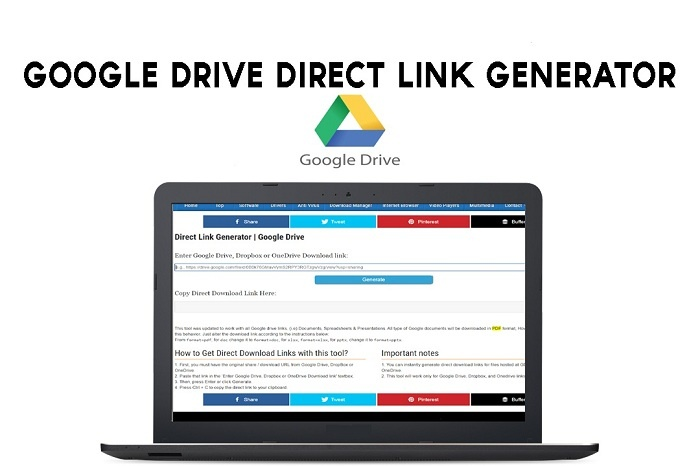 Drive Direct link generator | Google Drive Direct Download link generator