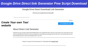 Read more about the article Google Drive Direct link generator script Free download