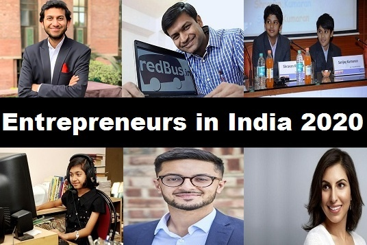 Top Entrepreneurs in India 2020 – Young Entrepreneurs in 2020
