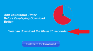 Add Countdown Timer Before Displaying Download Button Link