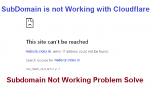 SubDomain is Not Working With Cloudflare – Website Not Open Problem