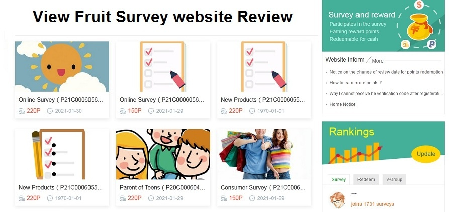 View Fruit Online Survey Website Review With Payment Proof in 2021