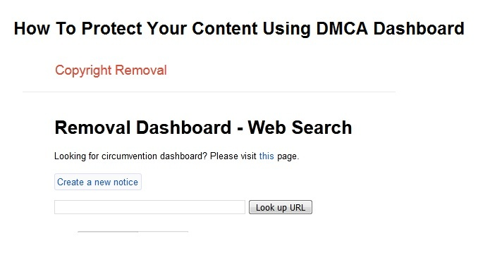 How to Submit a Copyright Take-down Notice Using Google Search Engine